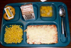 Unhealthy school lunch