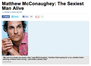 The Matthew McConaughey Workout