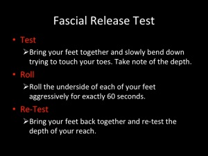 Foot relief fascia test