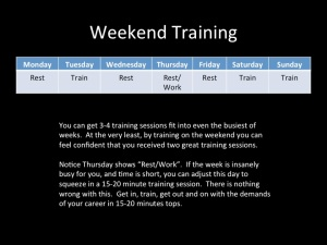Weekend Training Solutions
