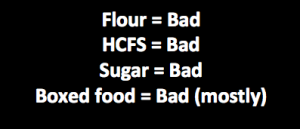bad food list