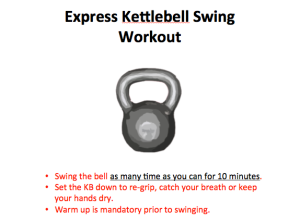 10 minute kettlebell swing workout