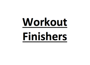 workout finishers