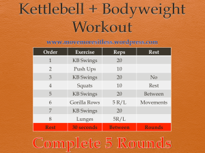 sample kettlebell and bodyweight workout
