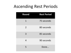 Ascending Rest Periods