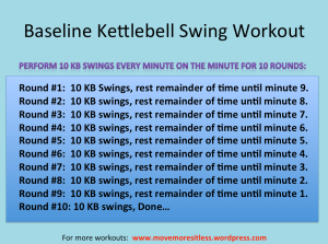 Baseline Kettlebell Swing Workout