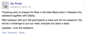 Ido Portal Nike